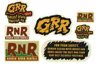 Set of 7 Grizzly River Run Prop Stickers