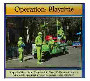 Operation Playtime Green Army Men Sign
