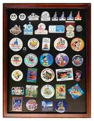 Set of 39 Walt Disney World Anniversary Buttons