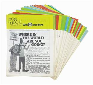 Collection of 34 Eyes and Ears of WDW Newspapers