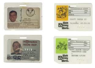 Group of 4 Walt Disney World Identification Cards