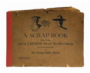 Walt Disney's Personal WWI Sketchbook with Drawings.