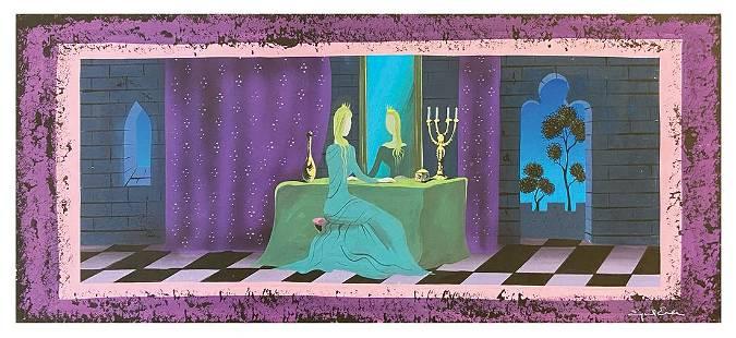 Eyvind Earle Sleeping Beauty Castle Walkthrough Concept