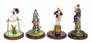 Set of (4) Haunted Mansion Stretching Portrait Figures.