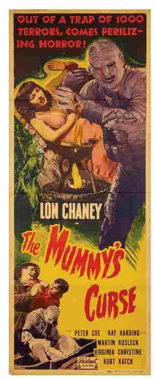 The Mummy's Curse Insert Poster.