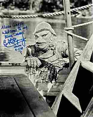 Creature from the Black Lagoon Gill-man Signed Photo.