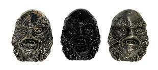 Set of (3) Creature from the Black Lagoon Belt Buckles.