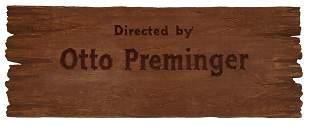 River of No Return Otto Preminger Title Credit Board.