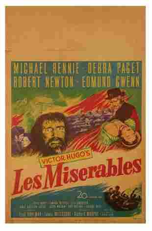 """""""Les Miserables"""" Window Card."""