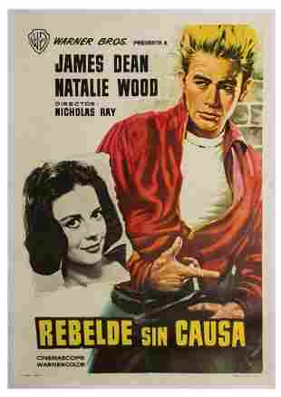 Rebel Without a Cause Spanish Poster.