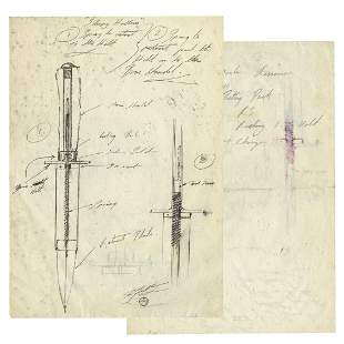 Sleepy Hollow Retractable Dagger Technical Drawing.