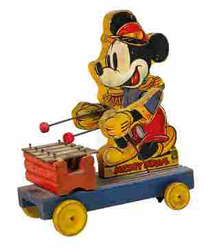 Mickey Mouse Xylophone Player Pull Toy.
