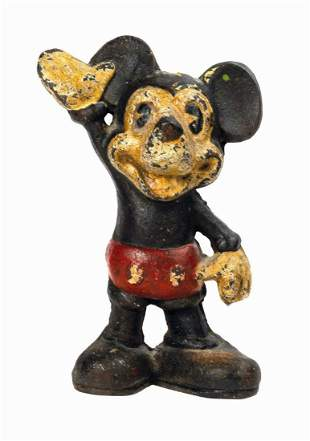Mickey Mouse Cast Iron Coin Bank.