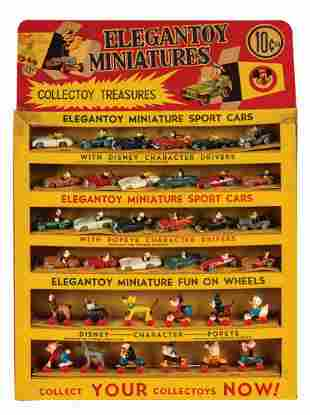 EleganToy Minitures Sport Car Store Display.