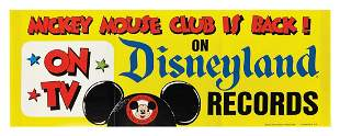 Mickey Mouse Club Disneyland Records Poster.