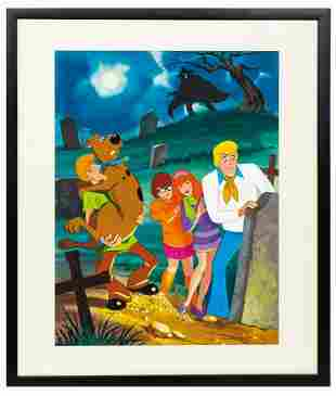 Scooby-Doo Where Are You? Jigsaw Puzzle Painting.