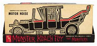 Signed Munster Koach Toy Vehicle Replica.