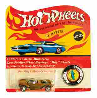 Hot Wheels Gold Beatnik Bandit on Card.