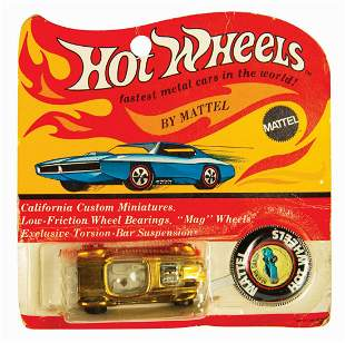 Signed Hot Wheels Gold Beatnik Bandit on Card.