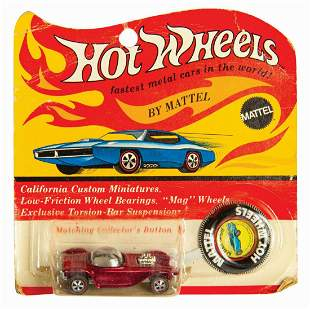 Hot Wheels Red Beatnik Bandit on Card.