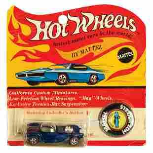 Hot Wheels Blue Beatnik Bandit on Card.