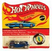 Signed Hot Wheels Blue Beatnik Bandit on Card.