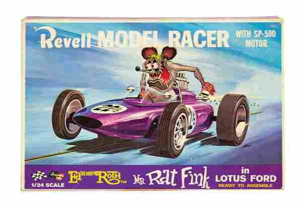 Rat Fink in Lotus Ford Big Daddy Roth Slot Car.