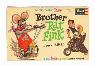 Brother Rat Fink Big Daddy Roth Model Kit Box.