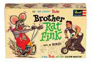 Signed Brother Rat Fink Big Daddy Roth Model Kit.