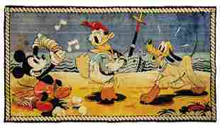 Alexander Smith Mickey And Friends Tapestry.