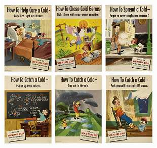 Complete Set of (6) How to Catch a Cold Posters.