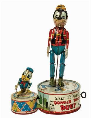Marx Donald Duck Duet Tin Toy.