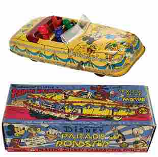 Marx Disney Parade Roadster Tin Toy.