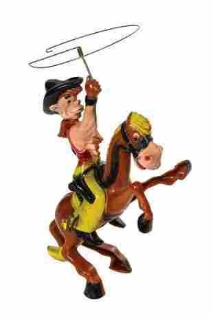 Marx Pecos Bill Ridin' Widowmaker Wind-Up Toy.