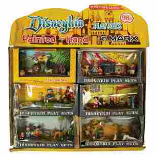 Marx Disneykins Playsets and Series 1 Store Display.