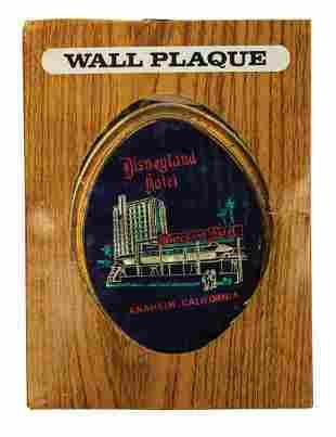 Disneyland Hotel Wall Plaque.