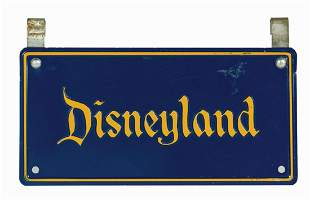 Park-Used Disneyland Stroller License Plate.