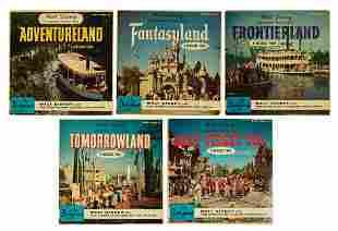 Set of (5) Walt Disney Takes You to Disneyland Records.