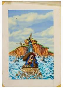 Original Splash Mountain Promotional Painting.