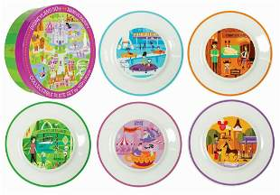 Shag Disney 50th Anniversary Plate Set.
