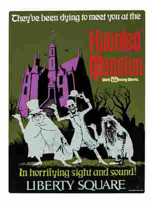 Haunted Mansion Attraction Poster Tin Sign.