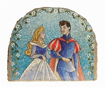 Sleeping Beauty Castle Courtyard Mosaic.