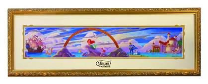 Signed Ariel's Undersea Adventure Grand Opening Print.