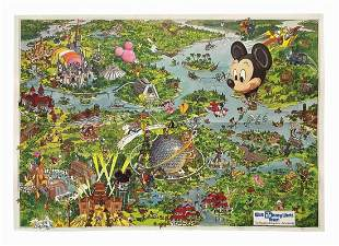 1990 Walt Disney World Resort Map.