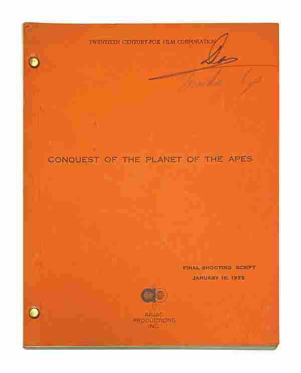 Conquest of the Planet of the Apes Shooting Script.