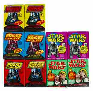 Collection of (10) Star Wars Card Packs.