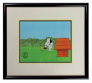 Peanuts Snoopy Come Home Framed Production Cel Set-Up.