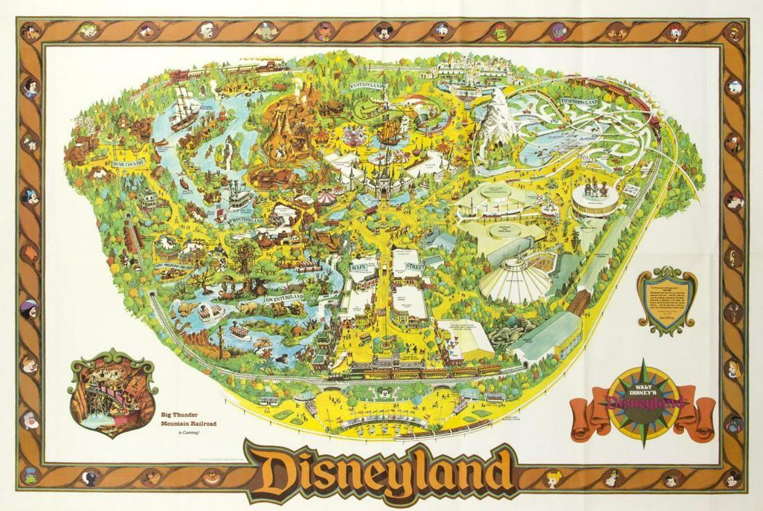 1978 Disneyland Map.