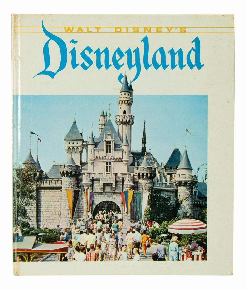 Walt Disney's Disneyland Hardcover Book.