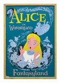 Park-Used Alice in Wonderland Attraction Poster.